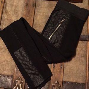 H&M zipper detail leggings. Sz XS/Sm